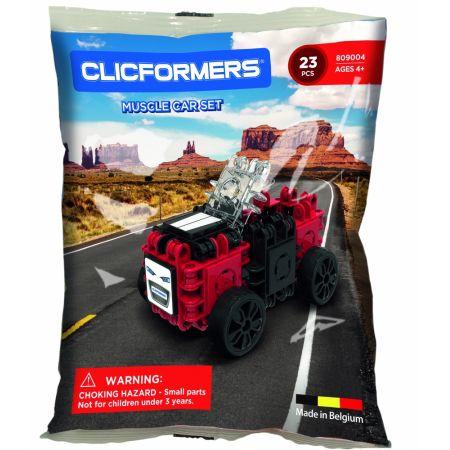 Belgijskie klocki konstrukcyjne CLICFORMERS Auto 23 elementy- 809004