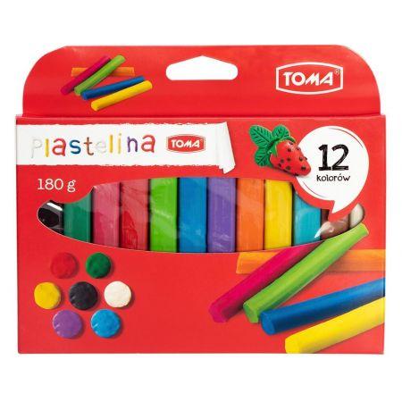Plastelina 12 kolorów TOMA