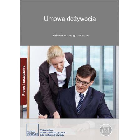 Umowa dożywocia. Aktualne umowy gospodarcze
