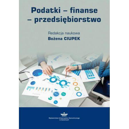 Podatki - finanse - przedsiębiorstwo
