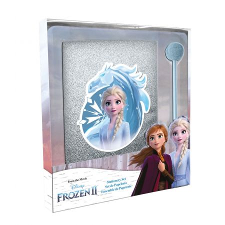 Pamiętnik brokatowy oraz długopis z pom ponem Frozen WD21140