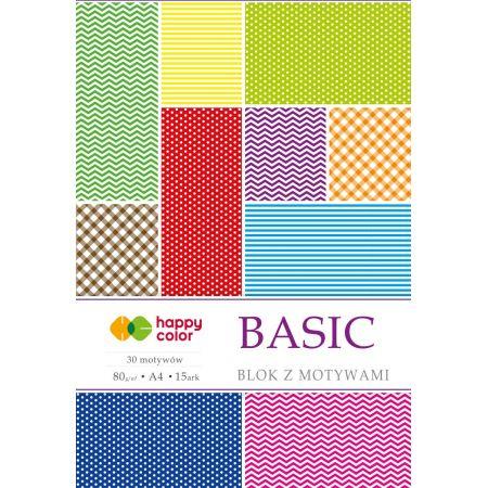 Blok z motywami Basic A4