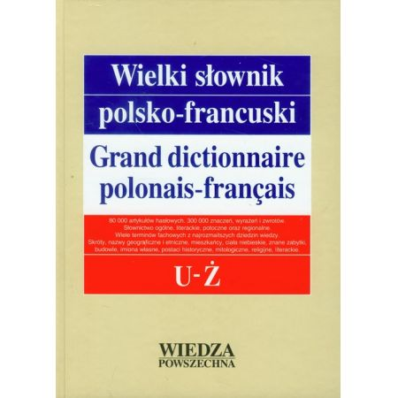 Wielki słownik polsko-francuski Tom 5 U-Ż
