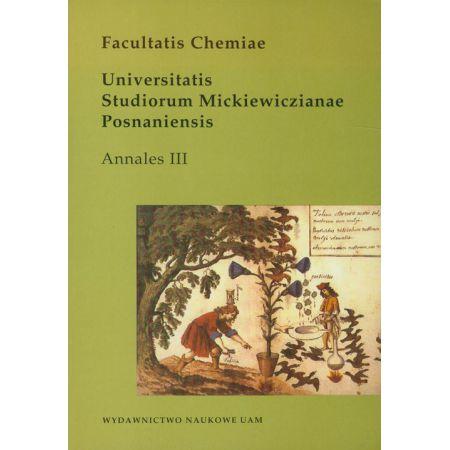 Facultatis chemiae. Universitatis Studiorum Mickiewiczianae Posnaniensis