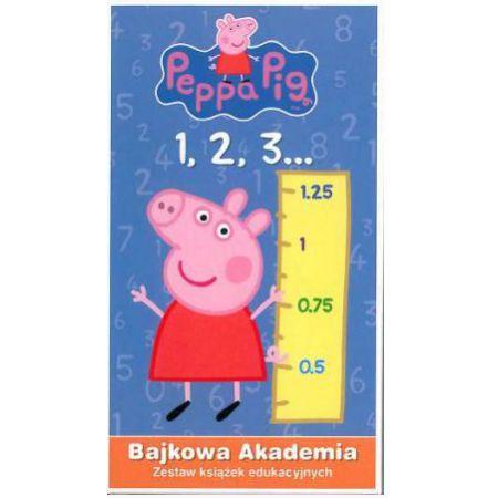 Świnka Peppa Bajkowa Akademia Zestaw książek edukacyjnych