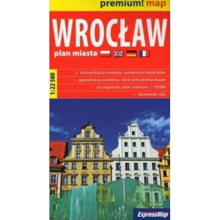 Premium! map Wrocław 1:22 500 plan miasta w.2020