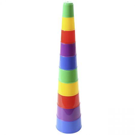 Polesie 35967 Zabawka logiczna - Piramidka Nr2 10 elem.w worku