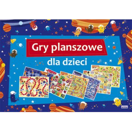 Gry planszowe dla dzieci. 7 dużych plansz z grami