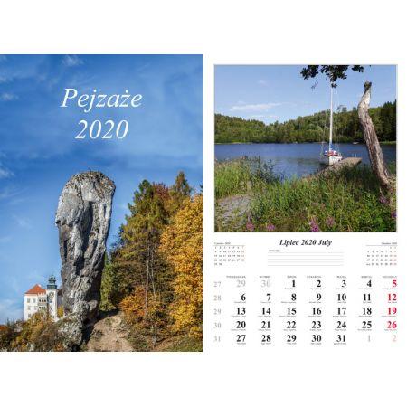 Kalendarz 2020 Pejzaże 13 planszowy RADWAN