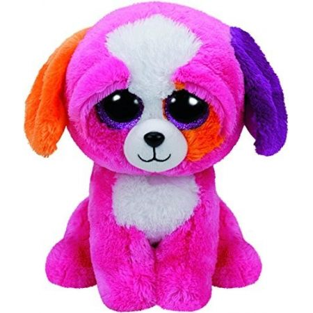 TY BEANIE BOOS PRECIOUS - różowy pies 24cm 37073