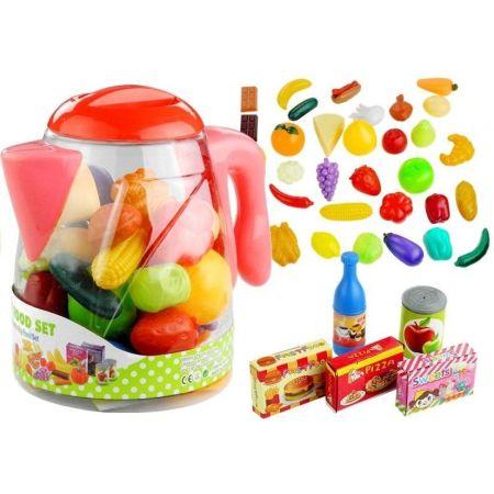 Artykuły spożywcze w dzbanku warzywa owoce 50 elementów