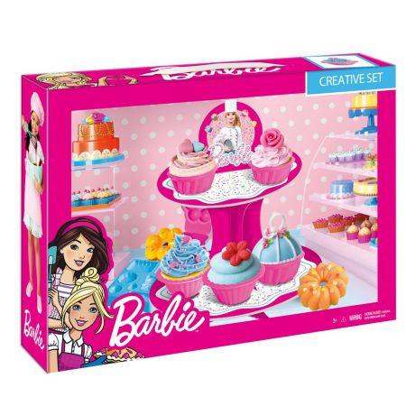 Zestaw kreatywny masa plastyczna z paterą Barbie MEGA CREATIVE 447820
