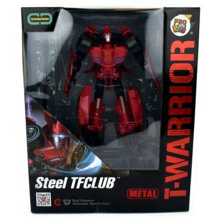 Robot T-Warrior metal bordowy