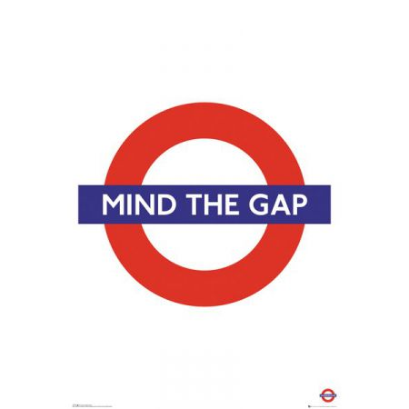 Londyn Metro Mind The Gap - plakat