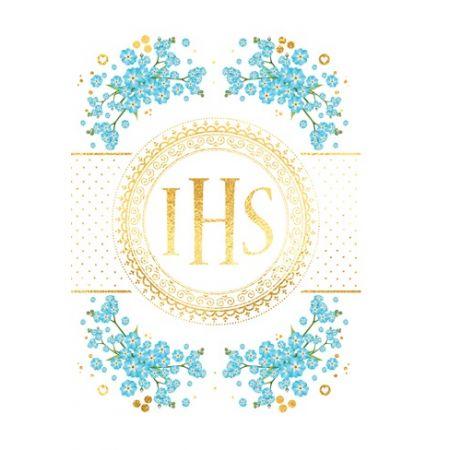 Karnet B6 Komunia z kieszonką IHS