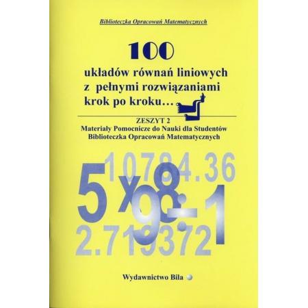 100 układów równań liniowych...