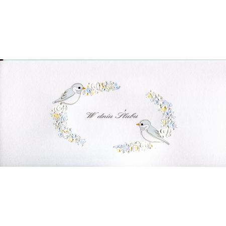 Karnet Ślub DL S32 - Ptaki