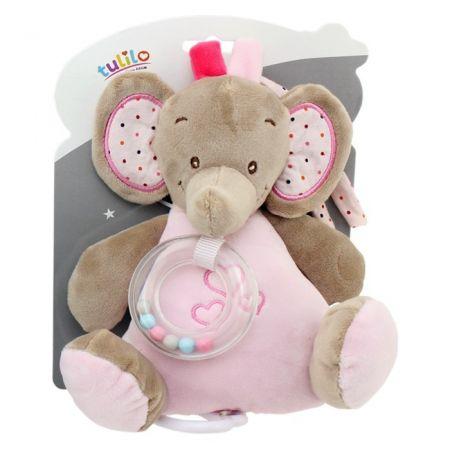 Pozytwka New Baby Słonik różowy 18 cm