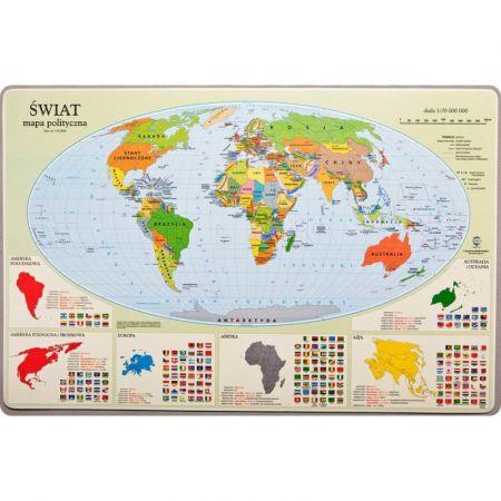 Podkładka mapa polityczna Świata