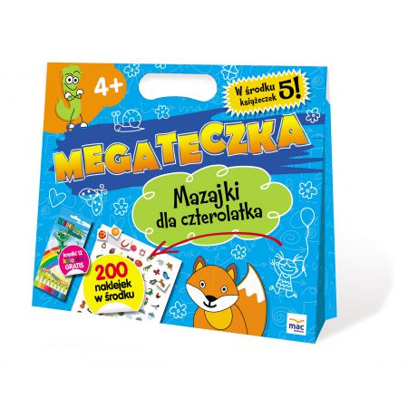 Mega Teczka. Mazajki dla czterolatka MAC