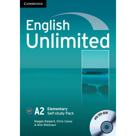 English Unlimited Elementary Self-study Pack Workbook + DVD
