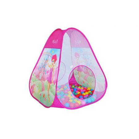 Namiot z piłeczkami różowy