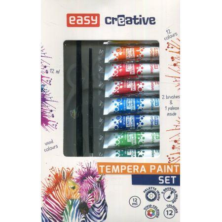 Farba tempera 12 kolorów EASY