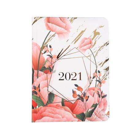 Kalendarz tygodniowy B6 2021 Kwiaty