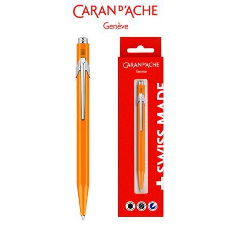 Długopis Caran Dache 849 Gift Box Fluo Line Orange
