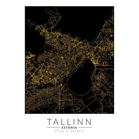 Talin złota mapa - plakat