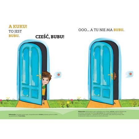 Bubu uczy się mówić. A kuku! Interaktywna książeczka do stymulacji mowy dziecka od 6. miesiąca do 3. roku życia