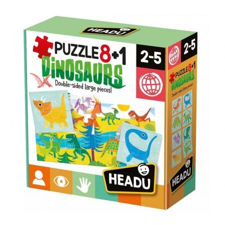 Puzzle 8+1 Dinozaury HEADU