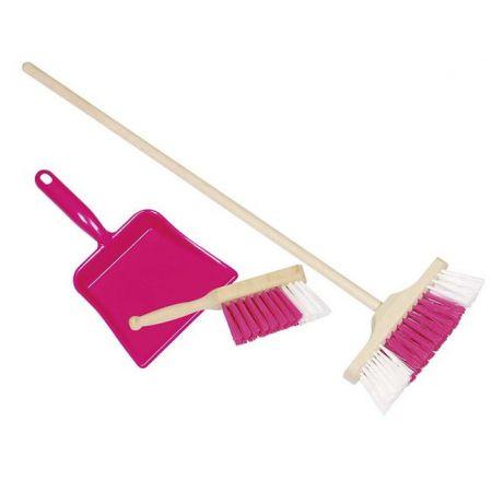Zestaw do sprzątania różowy