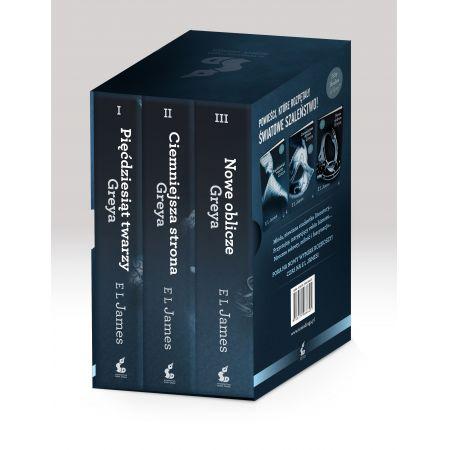 Pakiet 3 książek. Pięćdziesiąt twarzy Greya. Ciemniejsza strona. Nowe oblicze Greya