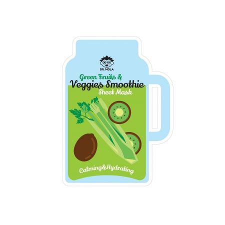 Green Fruits & Veggies Smoothie Sheet Mask maseczka do twarzy w płachcie kojąco-nawilżająca