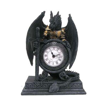 Smok w zbroi zegar