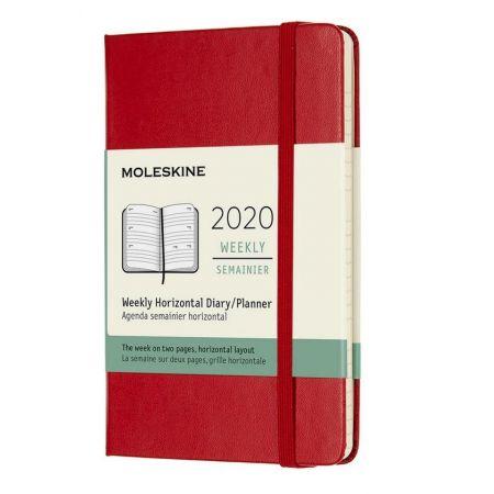 Kalendarz 2020 tygodniowy 12MP tw. Scarlet red