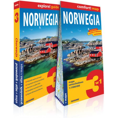 Explore!guide Norwegia 3w1 przewodnik+atlas+mapa