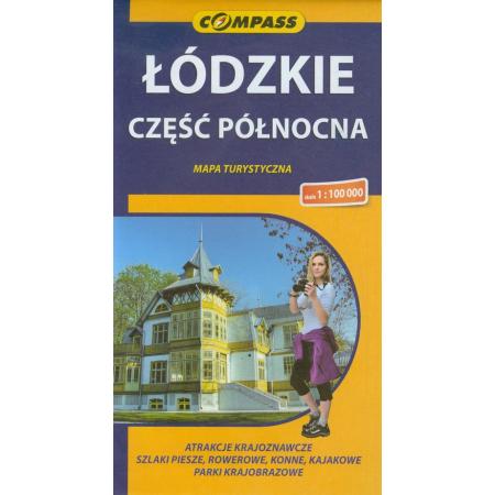 Mapa turystyczna -Łódzkie cz. północna 1:100 000