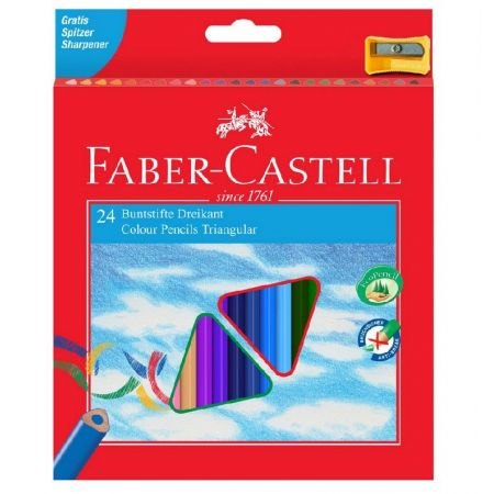 Kredki Eco Colour 24 kolory + temperówka