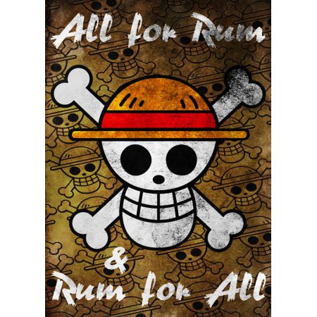 One Piece - All for Rum Rum for All - plakat