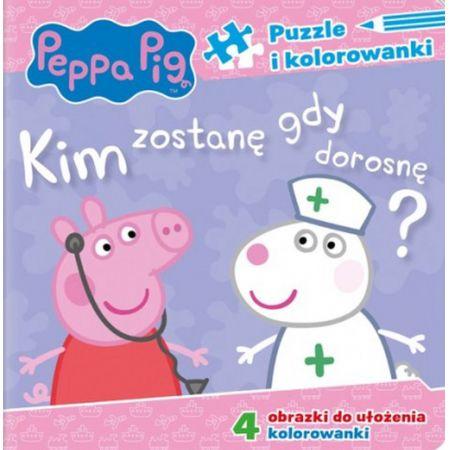 Peppa Pig Puzzle i kolorowanki Kim zostanę, gdy dorosnę?