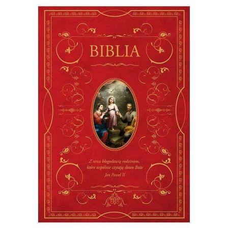 Biblia domowa z obwolutą Święta Rodzina