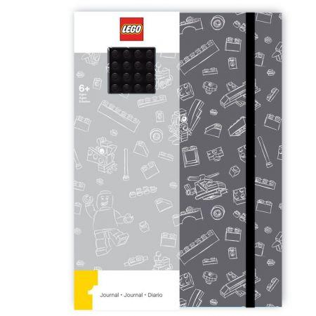 Szary notatnik z czarną płytką