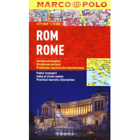Rom Rome Marco Polo City map 1:15 000