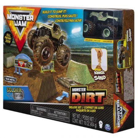 Auto Monster Jam Zestaw z piaskiem kinetycznym 6044986 Spin Master