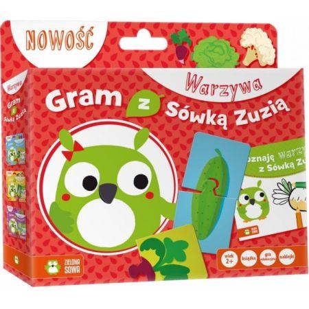 Gram z Sówką Zuzią. Warzywa (Książka + gra)