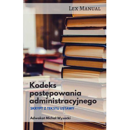 Kodeks postępowania administracyjnego Skrypt z tekstu ustawy