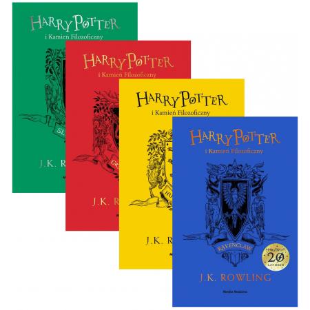 Pakiet Harry Potter i Kamień Filozoficzny: Slytherin, Gryffindor, Hufflepuff, Ravenclaw