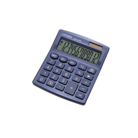 Kalkulator biurowy CITIZEN SDC-812NRNVE, 12-cyfrowy, 127x105mm, granatowy